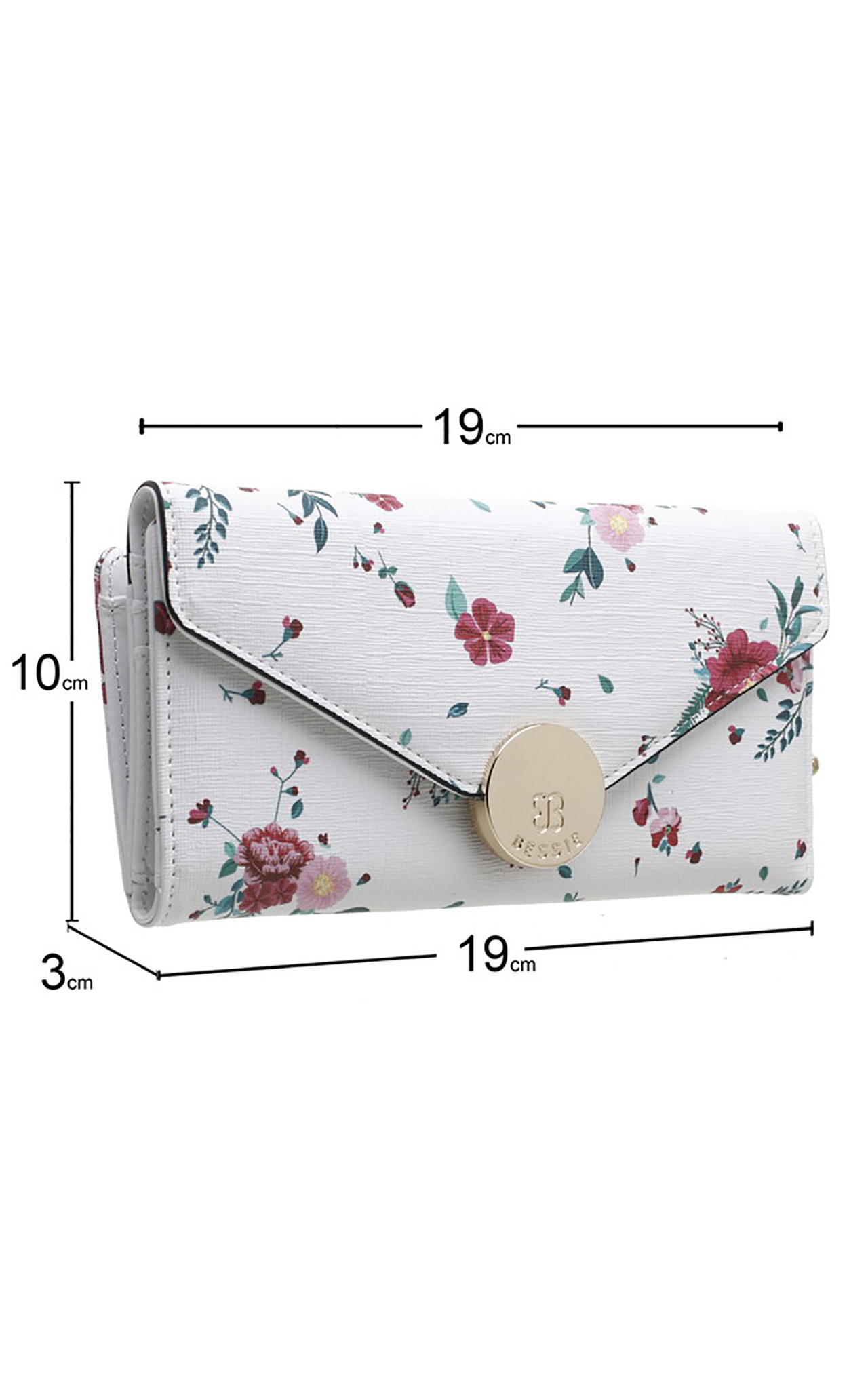 FLORAL PRINT FLAP OVER PURSE